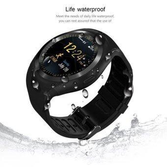 D08 บลูทู ธ สมาร์ทนาฬิกาข้อมือนาฬิกา GPS, IPS แบบคลาสสิกหน้าจอสัมผัสน้ำกันน้ำ Smartwatch มือถือ (สีดำ) - intl