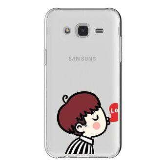 AFTERSHOCK TPU เคส Samsung Galaxy J7 2015 เคสโทรศัพท์พิมพ์ลาย Kiss Men เนื้อบาง 0.33 mm