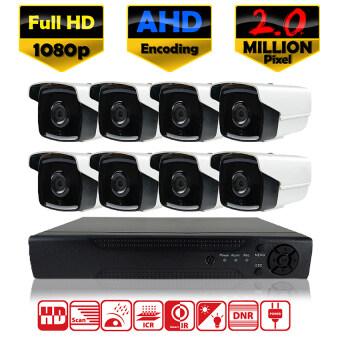 (OEM Hikvision) ชุดกล้องวงจรปิดกล้อง 8CH CCTV กล้อง 8ตัว ทรงกระบอก 2.0 MP Full HD และอนาล็อก เครื่องบันทึก 8ช่อง 1080P DVR, NVR, AHD