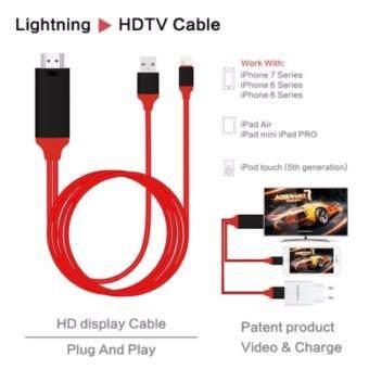 Lighting to HDMI 1080P HDTV AV Mirror Adapter Cable for iPhone 5 5S 5C 6 6S 6Plus 6SPlus 7 7Plus สายเอชดีเอ็มไอ สายสำหรับต่อมือถือกับทีวี