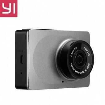 Xiaomi กล้องติดรถยนต์ YI Dash cam Car DVR WiFi 1080P 2.7Inch - สีเทา