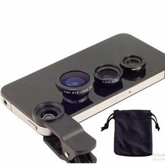 I-Gou LIEQI Premium Clip Lens LQ-001 Super Wide คลิปเลนส์มือถือ 3 in 1 (Black)