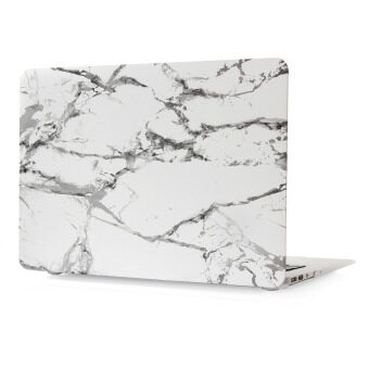 """Color pattern hard Rubberized Protection Cover Protective Case for 15.4 inch Apple Mac Macbook 15"""" Pro with Retina Display (Model:A1398) marble-White/Black ..."""