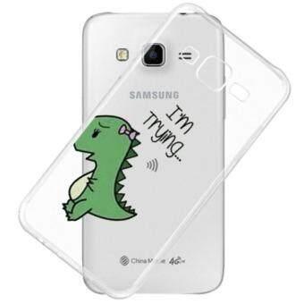 AFTERSHOCK TPU Case Samsung Galaxy J7 2015 (เคสใสพิมพ์ลาย I'm trying) / Thin 0.33 mm