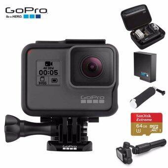 (BundleSet)GoPro Hero 5 Black+Karma Grip+Sandisk extreme 64GB+ทุ่นลอยน้ำ+แบตเตอรี่เสริมแท้+กระเป๋ากล้อง
