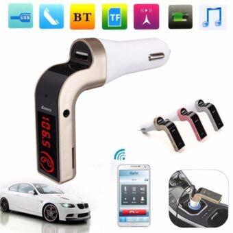 ของ แท้100% Car Kit CAR G7 Bluetooth FM Transmitter MP3 Music Player SD USB Charger for Smart Phone & Tablet