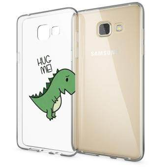 AFTERSHOCK TPU Case Samsung Galaxy A9 (เคสใสพิมพ์ลาย Hug Me) / Thin 0.33 mm(Green)