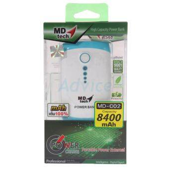 Harga MD-TECH MD-TECH POWER BANK 8400 mAh 'MD-TECH' (C02) White/Blue