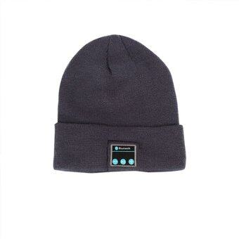 โปรโมชั่นหมวกหรูไร้สายบลูทูธหมวกอุ่นหูโทรศัพท์หูฟังสำหรับมือถือ (สีดำสีเทา)