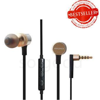 Awei ES-20TY Powerful Sound Experience Hi-Fi Earphones ทอง
