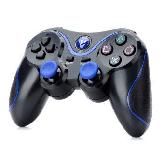 ไร้สายบลูทูธ Dualshock V3.0 คอนโทรลเลอร์สำหรับ Sony PS3 PlayStation 3 สีดำ+สีน้ำเงิน