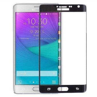 โทรศัพท์มือถือแบบโค้งข่าว 9ชั่วโมงความแข็งอารมณ์กันรอยหน้าจอกระจกสำหรับ Samsung Galaxy Note Edge (สีดำ)
