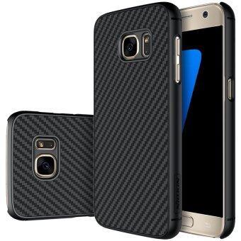 Top Brand ลีกคาร์บอนไฟเบอร์สังเคราะห์เกราะกำบังผิวย้อนกลับร้อยเคสโทรศัพท์สำหรับ Samsung Galaxy S7 G930A/G9300 12.95ซม (สีดำ)