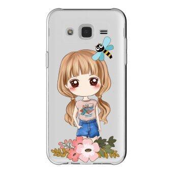 AFTERSHOCK TPU Case Samsung Galaxy J7 2015 (เคสใสพิมพ์ลายI'm a gril 3) / Thin 0.33 mm