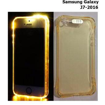 Case Samsung Galaxy J7-2016 (เคสไฟกระพริบ)(สีส้มอ่อน)