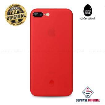 STONE AGE Color Block Collection Slim Fit Case 0.4 mm. ของแท้ สำหรับ iPhone 7 Plus สีแดง (Red)
