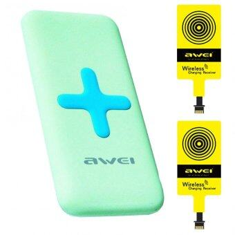 Awei Wireless Charging Power Bank iPhone รุ่น P98K (เขียว)+Wireless Charging iPhone,Android