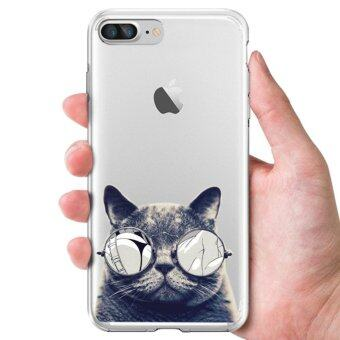 AFTERSHOCK TPU Case iPhone7 Plus (เคสใสพิมพ์ลายBlack Cat) / Thin 0.33 mm