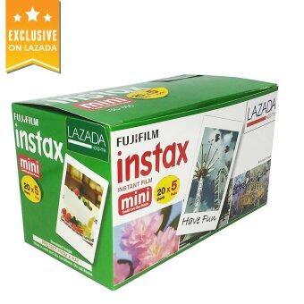 เช็คราคา FujiFilm Mini Instax Film ขอบขาว 20 x 5 แพ็คสุดคุ้ม เปรียบเทียบราคา