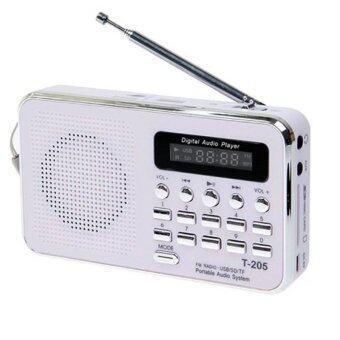 i-smart ลำโพงวิทยุ Mp3 รุ่น T-205 (สีขาว)