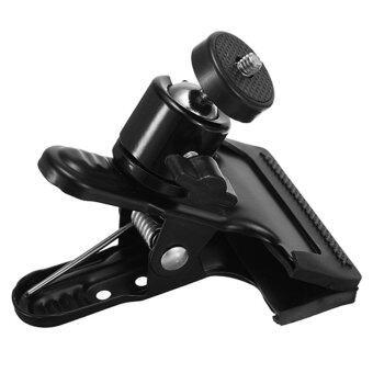 คลิปบอลหัวสำหรับกล้องอเนกฟังก์ชันโลหะสีดำ
