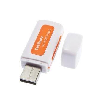 โธ่ถัง 4ใน1หน่วยหลายเครื่องอ่านบัตร USB 2.0 สำหรับ SD/TF/เสื้อยืดกระพริบ/M2 การ์ด