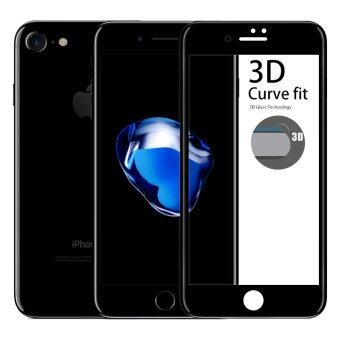 Cessory ฟิล์มกระจกนิรภัย 3D เต็มจอ คลุมขอบ iPhone 7 (4.7นิ้ว) 0.26mm 2.5D ขอบมน (สีดำ)