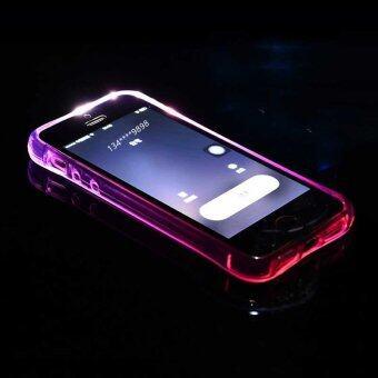 Led ไฟครอบโทรศัพท์โทรเข้ามาเคสกรอบสำหรับ iPhone 7 Plus (สีม่วง)