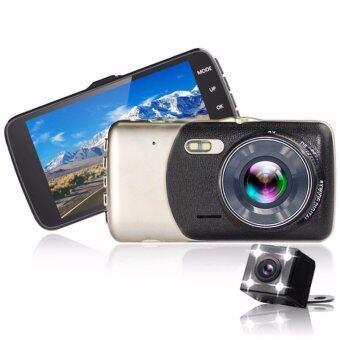 กล้องติดหน้ารถแบบหน้า หลัง มี WDR สีดำ รุ่น 602