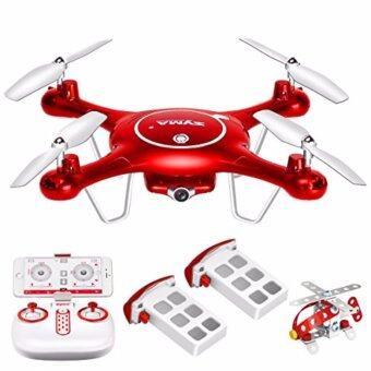 SYMA โดรนติดกล้องถ่ายวีดีโอ ภาพนิ่ง เชื่อมต่อเข้าสมาร์ทโฟนผ่าน wifi (Syma X5UW Wifi FPV 720P HD Camera Quadcopter Drone) Red.
