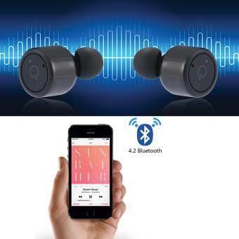 leegoal หูฟังไร้สายหูฟังเสียงเช่นเดียวกับเห็นบลูทูธ V4.2 เพลงหูโทรศัพท์ในหูเสียงสเตอริโอใส่ชุดหูฟังสำหรับวิ่งออกกำลังกาย Apple