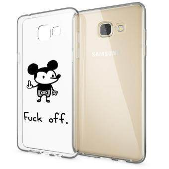 AFTERSHOCK TPU Case Samsung Galaxy A9 (เคสใสพิมพ์ลาย F_ck off) / Thin 0.33 mm(Black)