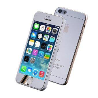 แถมกระจกหลังและกระจกอารมณ์สำหรับ iPhone 5/5S (เงิน)