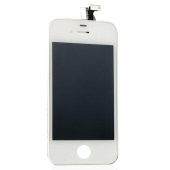 ขาวชุดจอแสดงผลแอลซีดีทัชสกรีนทรงดิจิทัลสำหรับ iPhone 4 4G-
