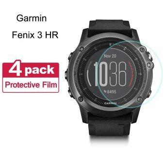Fenix 3ชั่วโมงกันรอยหน้าจอ (4 แพ็ค) นาโนฟิล์มพรีเมี่ยม Seeme นุ่มป้องกันการระเบิดเต็มจอกันรอยหน้าจอข่าวสำหรับ Garmin Fenix 3 งาน Garmin Fenix 3 และ Garmin Quatix 3 นาฬิการะบบจีพีเอส