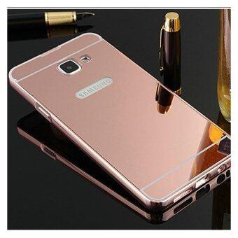 Case Samsung J7 prime เคสกระจก ราคาถูก พร้อมส่ง เคสซัมซุง New Bumper Mirror Case 2 in 1 Pink 18k 24k Aluminium Miror ขอบอลูมิเนียม ใหม่ สีชมพู