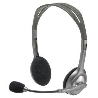 Logitech H110 หูฟังแบบครอบหู (สีเทา)