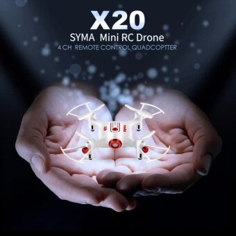 โดรนบังคับ โดรนติดกล้อง ขนาดจิ่ว X20 Pocket Drone 2.4Ghz Remote Control Mini RC Quadcopter with Altitude Hold and One Key Take-off / Landing