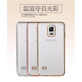 Case Samsung Note 4 เคสใสขอบทอง เคสนิ่ม เคสซัมซุง Soft Case TPU ใส ขอบ สีทอง