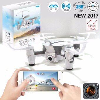 Drone มินิติดกล้องดูภาพผ่านมือถือ วาดเส้นทางการบินได้ WiFi FPV พร้อมระบบถ่ายทอดสดแบบ Realtime(มีระบบ ล็อกความสูง)