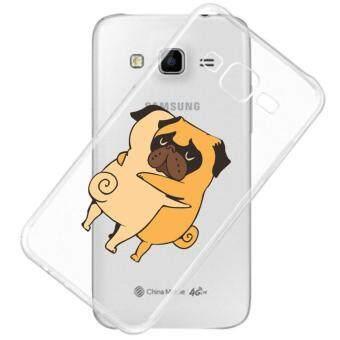 AFTERSHOCK TPU Case Samsung Galaxy J7 2015 (เคสใสพิมพ์ลาย Hug Dog) / Thin 0.33 mm