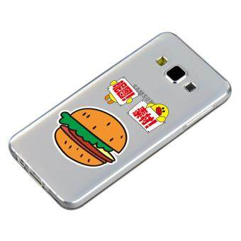 HugCase TPU เคส Samsung Galaxy A5 2015 เคสโทรศัพท์พิมพ์ลาย Hamburger เนื้อบาง 0.3 mm