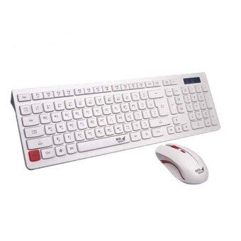 MD-tech Keyboard+Mouse คีย์บอร์ด+เมาส์ ไร้สาย รุ่น K7+M199 (White)