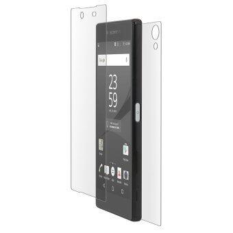 โทรศัพท์มือถือหน้ากันฝุ่นกลับโกรธกันรอยหน้าจอกระจกสำหรับ Sony Xperia Z5 พรีเมี่ยม (ความโปร่งใส)