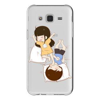 HugCase TPU เคส Samsung Galaxy Grand 2 เคสโทรศัพท์พิมพ์ลาย Sleeping เนื้อบาง 0.3 mm