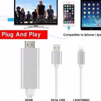HDMI สายต่อ HDMI To TV Lightning Digital AV Adapter For iPhone 5/5S/6/6 plus/6S/6SPlus 7 7plus/ipad Support Full HD 1080P รองรับ ios ทุกอุปกรณ์