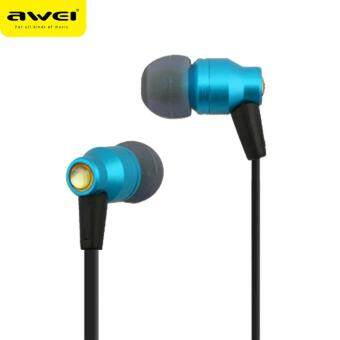 AWEI ES-800M หูฟังชนิดใส่ในหู Super Deep In-ear earphone (สีฟ้า) - intl