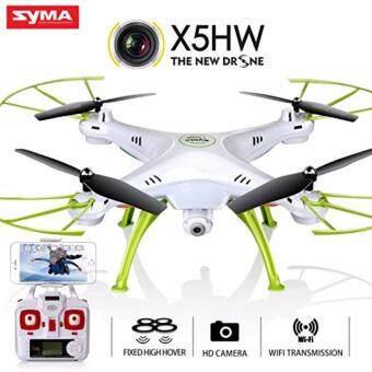 Syma โดรนบังคับ โดรนติดกล้อง Syma รุ่น X5-HW (New) ล็อคความสูงได้ กล้องถ่ายวีดีโอ ภาพนิ่ง ภาพคมชัดระดับ HD Hover Function + FPV WIFI Camera(Color:White/Bule)