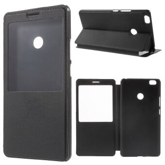 Harga Leather View Window Stand Case for Xiaomi Mi Max (Black) - intl