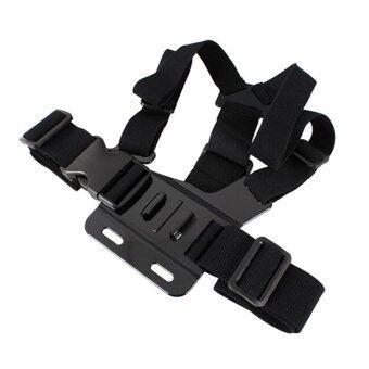 Adjustable chest strap สายรัดหน้าอกปรับได้ Camcorder Shoulder Strap for GoPro Cam (Black)